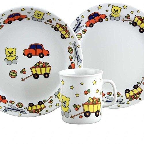 Set Assiette Plate, Assiette Creuse et Mug Glaieul