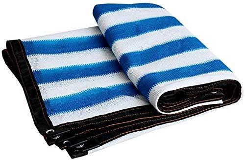 Gymqian Sombreado Netting Camo Netting Shade Cloth 80% Sunblock Sombra Shade Paño Toldo de Sombrilla Transpirable con Ojales para Patio, Invernadero, Agricultura, Al Aire Libre cifrado/Azul