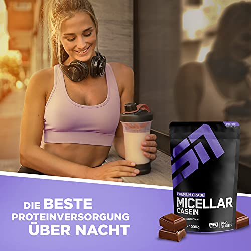 ESN Micellar Casein, Pro Series, Chocolate, 1er Pack (1 x 1000g Beutel) - 6