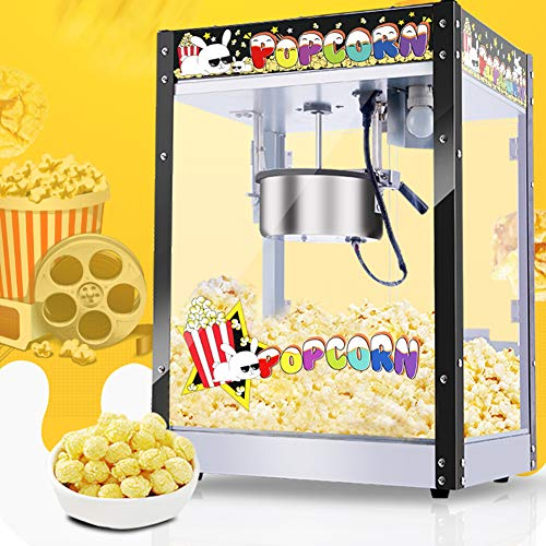 1300w Carnival Popcorn Maker, Commercial Popcorn Maker, Retro Style Popcorn Maker Met Grote Capaciteit, Tefloncoating En Ingebouwde Lichte Bladermachine