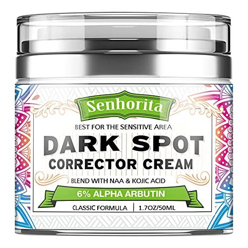 Dark Spot Remover for Face,Dark Spot Corrector for Face Body,Sun Spots,Age Spots, Hyperpigmentation and Even Skin Tone,Body Moisturizer for Bikini and Sensitive Areas,1.7 Fl Oz