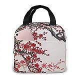 Bolsa de almuerzo portátil Cherry Blossom Tree para mujeres y niñas adolescentes Fiambrera aislada para viajes de trabajo y escuela