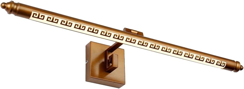 WYDM Spiegel Licht LED Spiegel Scheinwerfer Feuchtraum Badezimmer Schlafzimmer Badezimmer Anti-Rost-Retro-Spiegel Schrank Spiegel Lampe (Farbe   Warmes weies Licht-8W 50cm)