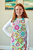 Handmade Colorful Aqua Baking Art Craft Apron Gift for Tween Girl