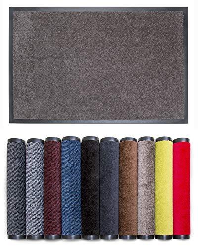 Carpet Diem Rio C Schmutzfangmatte - 5 Größen - 10 Farben Fußmatte mit äußerst starker Schmutz und Feuchtigkeitsaufnahme - Sauberlaufmatte in Taupe 80 x 120 cm