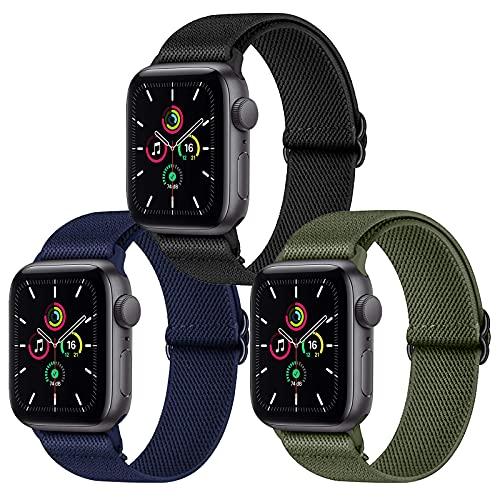 Younsea iWatch Correas Compatible con Apple Watch 44mm 42mm 38mm 40mm, Pulseras de Repuesto de Nylon Correa para iWatch Series 6 5 4 3 2 1 / Apple Watch SE, Mujer y Hombre