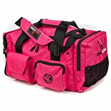 "King Kong Junior Kong Original Nylon Gym Bag - Heavy Duty and Water-Resistant Duffle Bag - Military Spec Nylon- Heavy Duty Steel Buckles - 18"" x 11"" x 11"" - Pink"