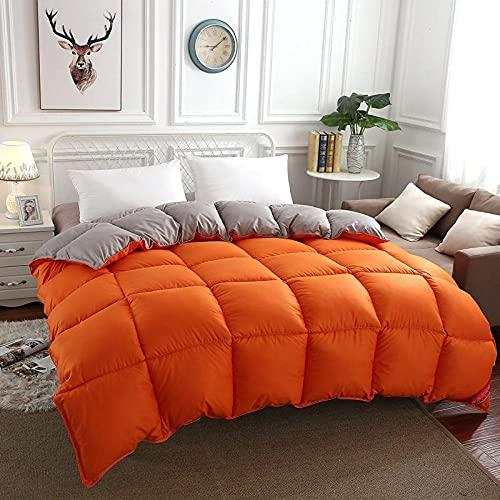 Cactuso Colors Relleno Duvet,Abajo Es Un Suave Verano Cuatro Temporadas-180x220cm 3000g_Gris Naranja