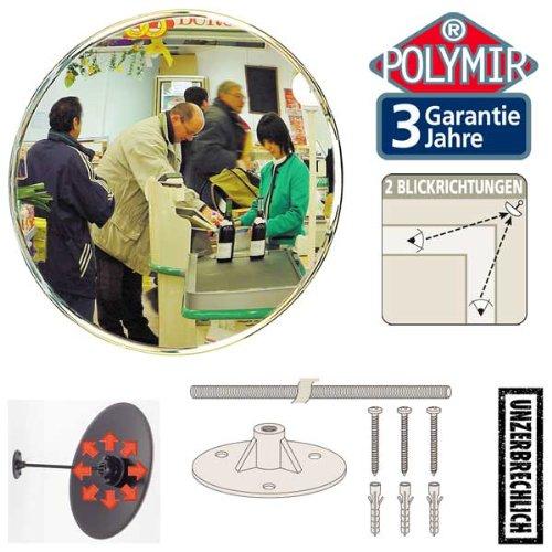 VIALUX Überwachungsspiegel Konvexspiegel–interne unzerbrechlich Shop Spiegel–30cm