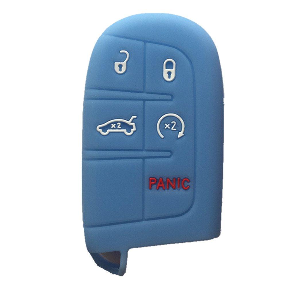 Orange Key Case Cover Jacket Silicone Rubber Fob Keyless Remote Holder Skin fit for JEEP FIAT DODGE CHRYSLER Smart Remote Key Case