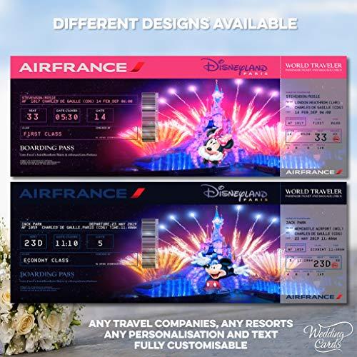 Flugkarten-Boarding Pass (personalisierbar)