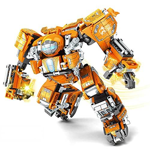 QAZWSXE City War Super Armor Robot Bloques de construcción Guerrero Mecha Figuras Arma Ladrillos Juguetes Hombre para Regalo de niños