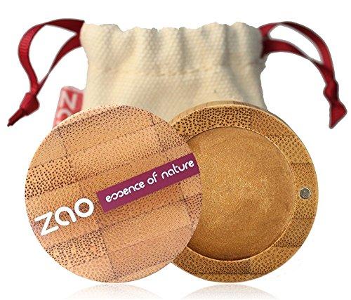 ZAO Cream Eyeshadow 254 gold-bronze, cremiger Lidschatten, \'Multi-Touch\' als Rouge, Lippenstift, Korrektor, Concealer, Abdeckstift, nachfüllbare Bambus-Dose (bio, vegan, Naturkosmetik) 101254