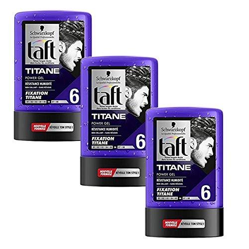 Taft - Lot De 3 Gel 300 Ml Titane N°6 Tube