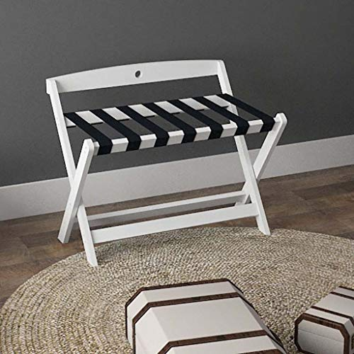 Lowest Price! Luggage Rack, Hotel Solid Wood Folding Luggage Rack, Room Rack Luggage Stool, 80x51x59...