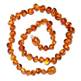 Genuine Baltic Amber Necklace - Polished Beads -...