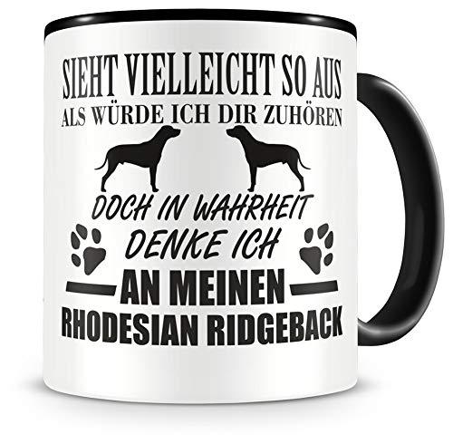 Samunshi® Ich denke an meinen Rhodesian Ridgeback Hunde Tasse Kaffeetasse Teetasse Kaffeepott Kaffeebecher Becher