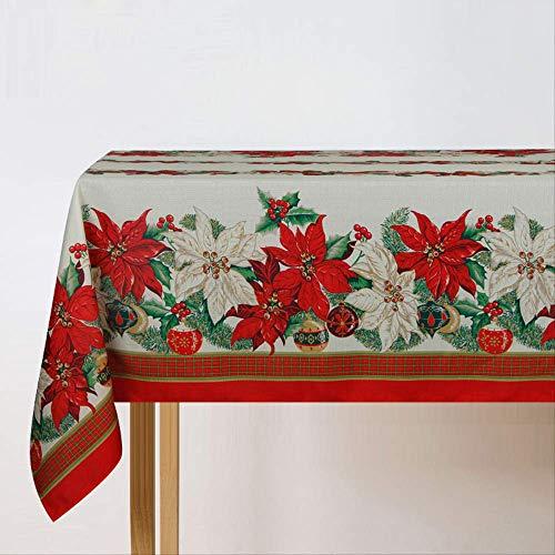 Rechthoekig tafelkleed print kerstboom klokken tafelkleden doek Kerstmis tafelkleden bloemen