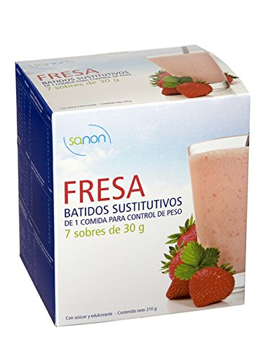 SANON Batido sustitutivo Sabor Fresa 7Envelopes 30gr
