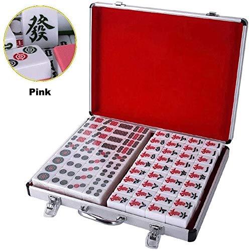 Grote haai mahjong mahjong set met aluminium tegels grootte voor stijl gameplay draagbare mahjong doos aluminium behuizing grote tegels