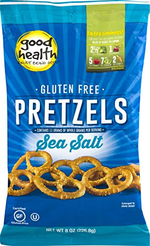 Good Health Gluten Free Pretzels with Sea Salt 8 oz. Bag (4 Bags)