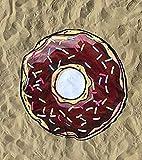 Ducomi Maiorca - Toalla de Playa Redonda de Microfibra Hombre, Mujer y Niños - Absorción Máxima Ideal para Playa, Pic-Nic, Casa, Piscina - Toalla de Fantasías de Colores - Ø 150 cm (Donut 2)