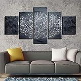 WZXHN Décoration de la Maison Islamic Wall Art Gravures Peintures sur Toile Wall Art Décor À La Maison 5 Pièces peintures murales pour Salon Affiches et estampes