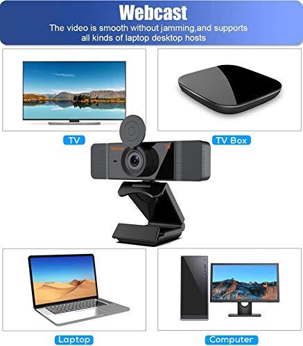 Aode Webcam HD 2K Web Camera mit Mikrofon Computer Webkamera für PC MAC Laptop, Plug and Play USB Webcam mit Datenschutzabdeckung Stativ für YouTube, Twitch, Skype, Videoanrufe, Konferenzen, Spiele