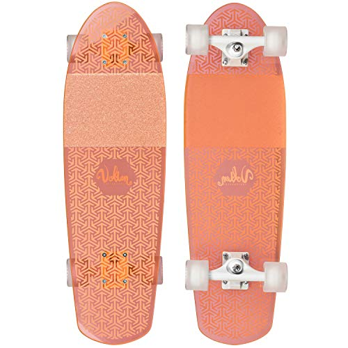 Volten Cruiser Neon Clear Longboard neonorange orange, standard