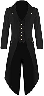 HX fashion Cappotto da Uomo Gotica Steampunk Giacca Abito Vittoriano Vintage Taglie Comode Cappotto Lungo Costume Cosplay ...