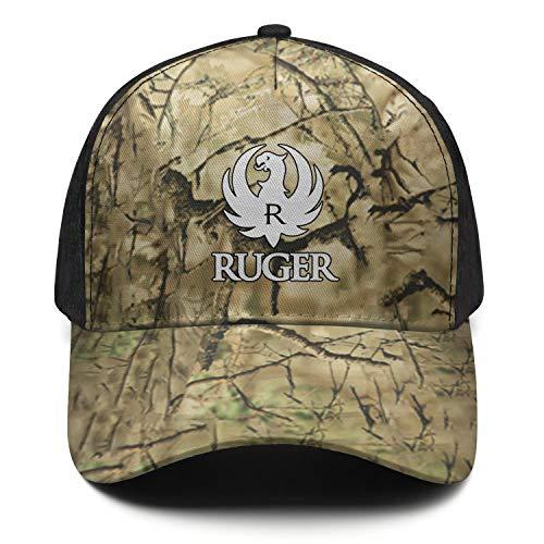 Ruger-Logo- Camo Hat for Mens Womens Baseball Hat Adjustable Outdoor Shooting Hat Hiphop Hat Cap