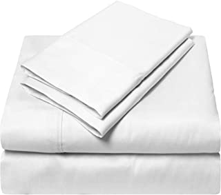 SGI bedding California King Size Sheets Luxury Soft 100% Egyptian Cotton 1000 Thread Count- Sheet Set for Cal King Mattress White Solid