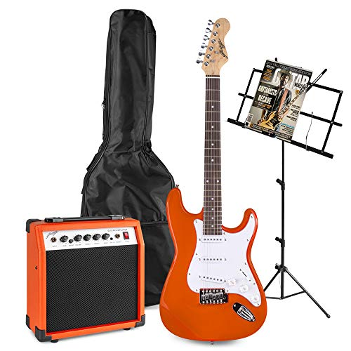 Johnny Brook JB407 Burnt Orange Elektrische Gitaar Starterset met Muziekstandaard