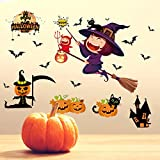 Halloween-Fliegen frequentierte Hausbar, sauberes Dekorationsfenster, Türen und Fenster, dekorative Wandaufkleber, Sätze PVCs 2