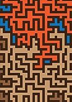 igsticker ポスター ウォールステッカー シール式ステッカー 飾り 841×1189㎜ A0 写真 フォト 壁 インテリア おしゃれ 剥がせる wall sticker poster 007687 ユニーク 迷路 ブラウン 赤 青