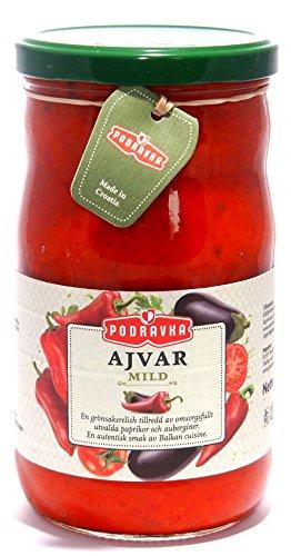 Podravka Ajvar mild - blagi Gemüsemischung 690g/720ml