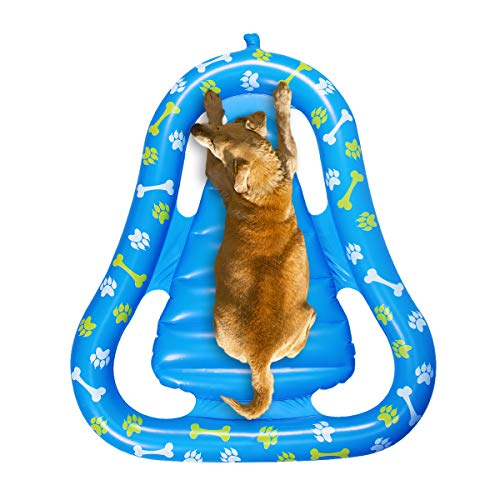 Cuccia galleggiante galleggiante per cani, amaca per bambini, lettino gonfiabile per la primavera, estate, galleggiante per animali domestici, peso di 80 kg, 125 x 97 cm