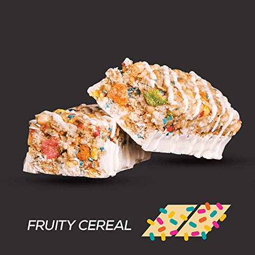 Redcon1 - B.A.R. Breakfast at The Ready - Cereal Bars - 12 Bars - 20G Protein, Low Sugar, On The Go (Fruity Cereal)