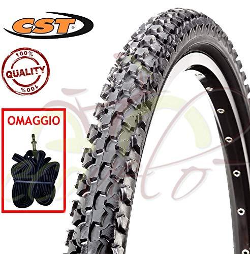 CST 1 Camera + 1 COPERTONE Neri per Mountain Bike C-1027 20 X 1.90 (50-406) MTB Mountain Bike Bici Bicicletta Bambino