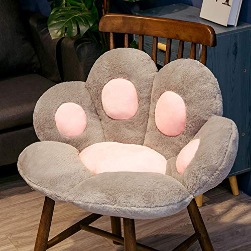Cojín de asiento lindo Cojín de asiento con forma de pata de gato, Cojín de asiento de sofá perezoso con forma de pata de gato, Cojín de silla de oficina