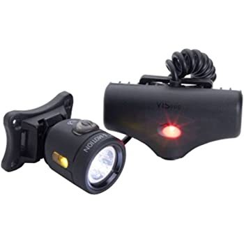 Light & Motion Vis 360 Pro Bike Helmet Light Set Rechargeable, Black