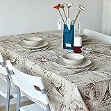 Mantel de algodón y lino, estilo rústico, diseño moderno europeo, Torre Eiffel,...