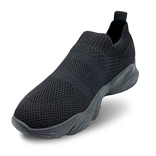 Zapatillas Casual para Mujeres Zapatillas de Deportivos de Running para Mujer Gimnasia Ligero Sneakers Zapatillas Deportivas Mujer Knit sin Cordones Super Adaptable para Correr Fitness Atlétic