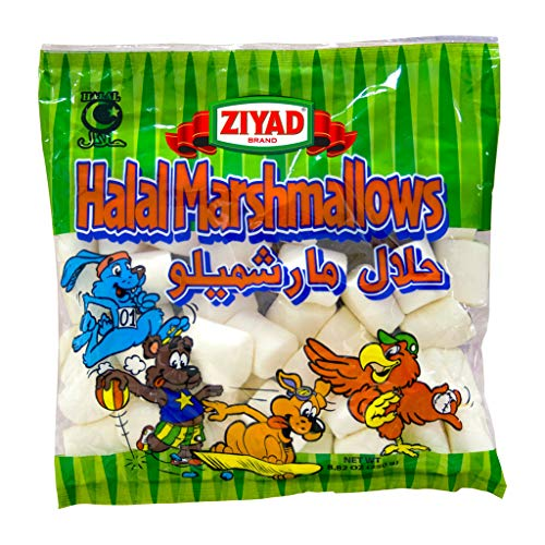 Ziyad Gourmet Halal, Full Size, Marshmallows, Pork-Free, Egg-Free, Dairy-Free, Gluten-Free, Perfect for Holidays and S'mores! 8.80 oz
