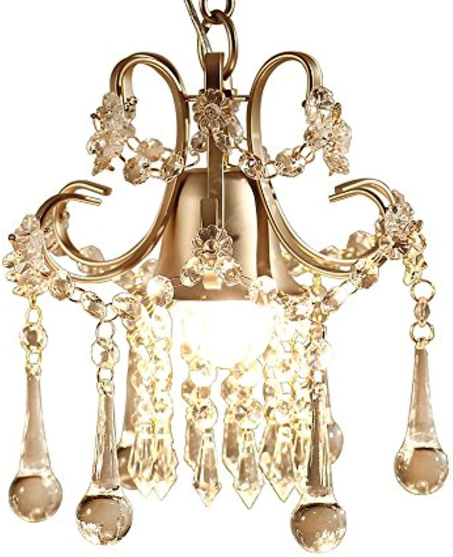 ZR Stilvoller Kristallkronleuchter dekoriert Wohnzimmer Esszimmer, Ankleidezimmer, Flur, Café Kronleuchter, Durchmesser 24 cm, Champagner-Gold