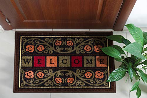 Ottomanson Ottohome Collection Rectangular Welcome Doormat (Machine-Washable/Non-Slip), Multicolor, 20' x 30'