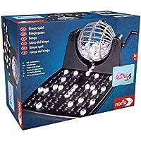 noris 606150493 - Tambor de Bingo, Incluye fichas, 90 Bolas y 12 cartones de Bingo, Juego de acción para Toda la Familia, para niños a Partir de 6 años.