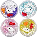 SWZY Slime Toy Ocean Fish Cloud Puff Slime Putty Marine Slime Scented Stress Kids Clay Crystal Mud Toy 60ml 4 Colors