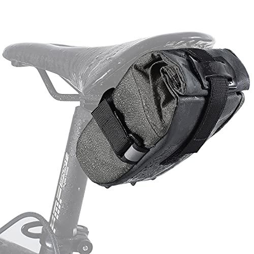 ICOCOPRO Satteltasche Fahrrad, Fahrradtasche Fahrradsitz Tasche mit gesticktem Logo, Fahrrad Cube Satteltasche klein Werkzeugtasche, tragbare Aufbewahrungstasche Rückentasche für MTB Rennrad
