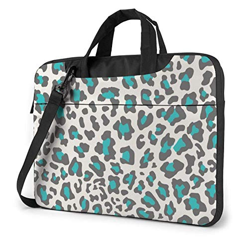 Laptop Bag Satchel Tablet,Green Leopard Print Laptop Shoulder Bag,Handle Carrying Computer Bag For Business Casual or School With Shoulder Straps & Handle